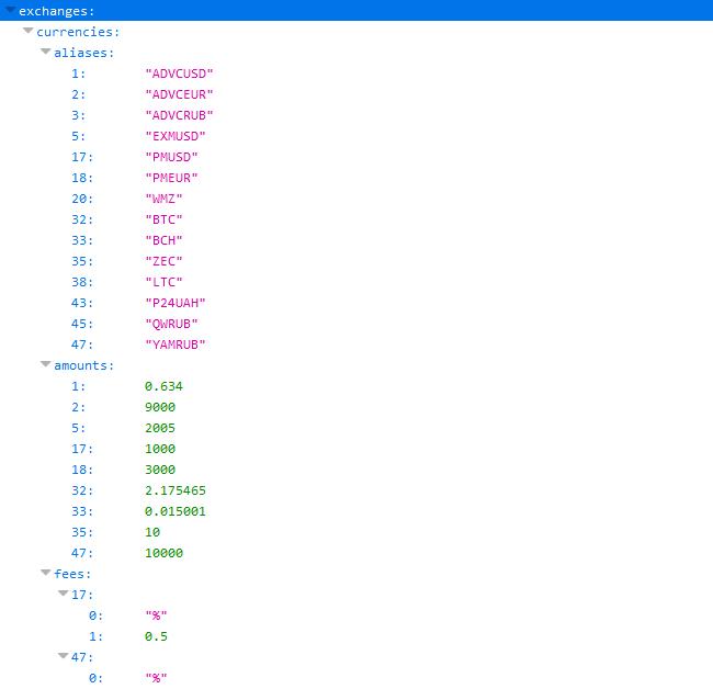 Файл курсів в двох форматах